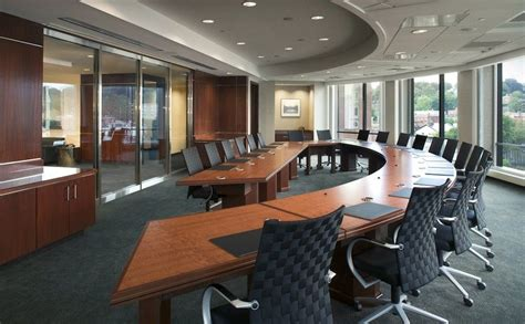 curved boardroom  workspace design affects workflow