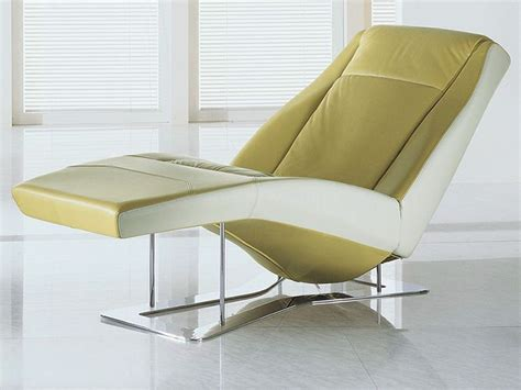 modern leather chaise longue ethos modern chaise longue in two tone leather with