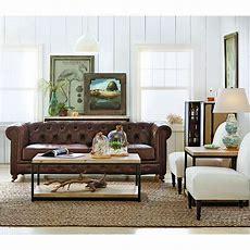 Home Decorators Collection Gordon Brown Leather Sofa