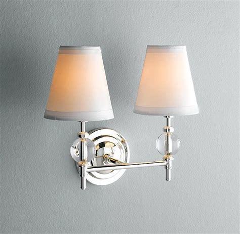 powder room lighting wilshire double sconce