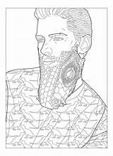 Coloring Beard Beards Rock Template Pages sketch template