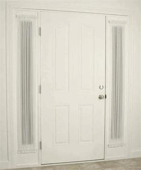 Sidelight Tension Curtain Rods by Looking Sidelight Curtains In Entry Style With