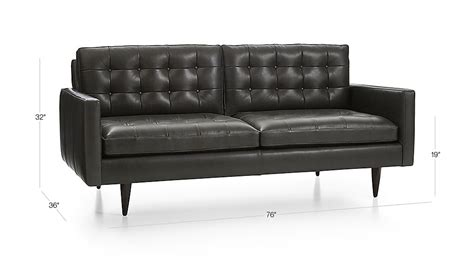 Crate And Barrel Petrie Sofa Look Alike by Petrie Leather Apartment Sofa Laval Carbon Crate And Barrel