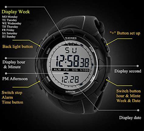 Herren Sport Digital Armbanduhr, 5 Bars Wasserdicht