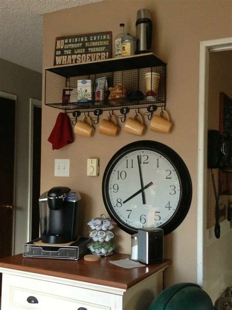 This table decor functions as a coffee station. 40 Ideas To Create The Best Coffee Station - Decoholic
