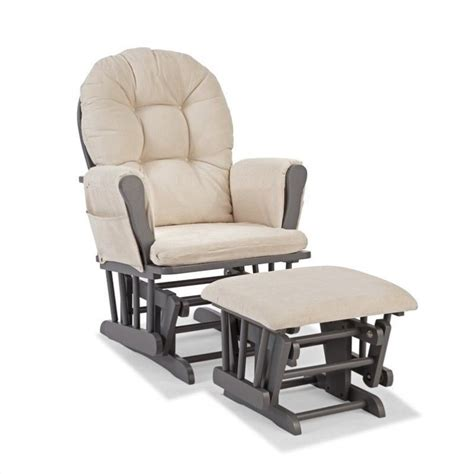 custom glider and ottoman in gray and beige 06550 61g