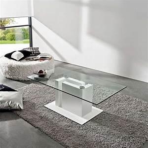 Table Basse Moderne En Verre Et Mlamin Tania