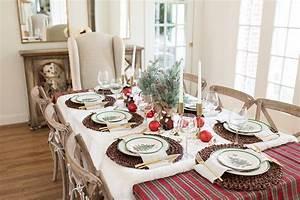 Stunning, Christmas, Table, Setting, Ideas, With, Macy, U0026, 39, S