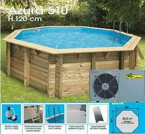 piscine hors sol bois ocea 510 pac 15m3 o510 x h120 cm With liner piscine hors sol octogonale bois 15 piscine bois ocea 510 x h120m