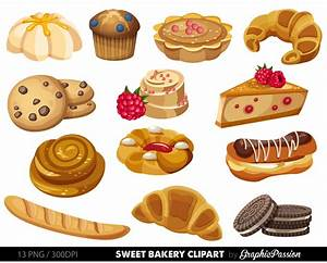 Sweets clipart bakery food - Pencil and in color sweets ...