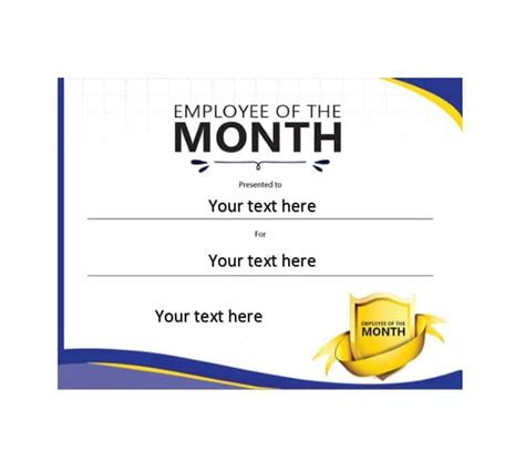 employee of the month certificate template 30 printable employee of the month certificates template archive