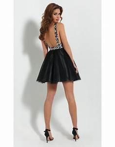 robe courte dos nu plongeant With robe courte décolleté dos nu