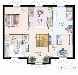 Maison familiale 8 Détail du plan de Maison familiale 8 Faire construire sa maison