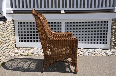 Antique Heywood-wakefield Wicker Armchair For Sale At 1stdibs