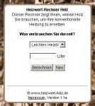 Festmeter Holz Berechnen : webtipp heizwert rechner holz ~ Themetempest.com Abrechnung