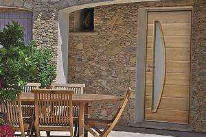Porte D Entrée En Bois Moderne : porte d entr e bois moderne rion bois ~ Nature-et-papiers.com Idées de Décoration