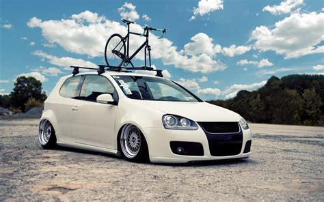 lowered cars wallpaper volkswagen golf vehicles cars auto tuning stance wheels