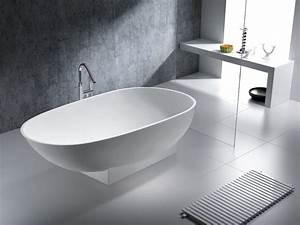 Freistehende Badewanne Mineralguss : freistehende badewanne elba aus mineralguss wei ~ Michelbontemps.com Haus und Dekorationen