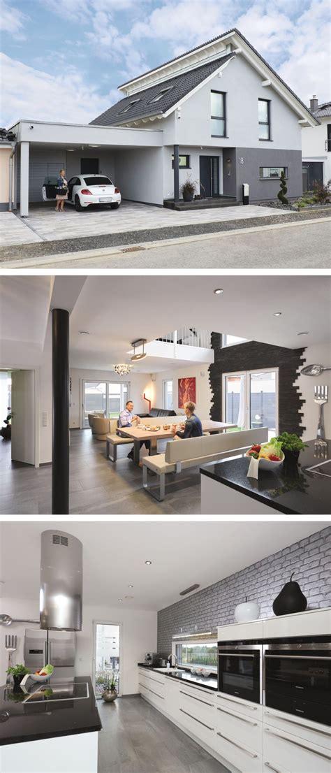 Moderne Haus Planung by Modernes Pultdach Haus Mit Galerie Und Carport