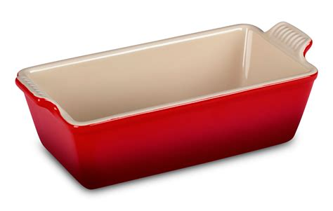 le creuset stoneware heritage loaf pan xx cherry red cutlery