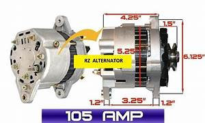 High Output Alternator Fits Yanmar Marine 3jh2 3jh2be