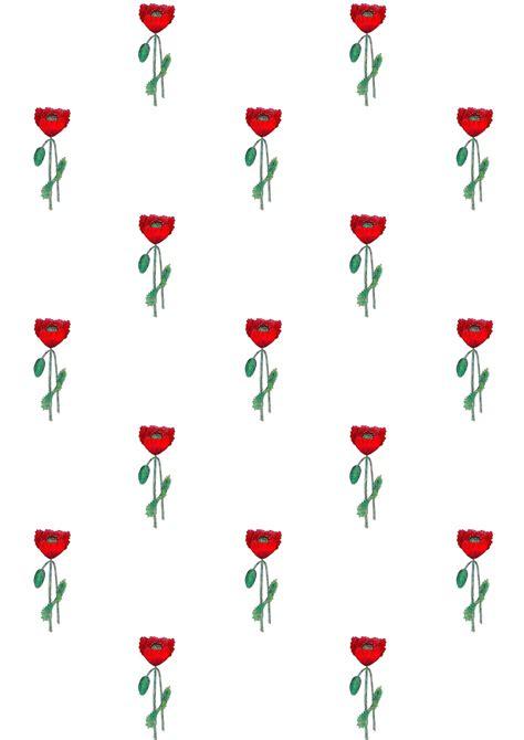 digital poppy scrapbooking paper ausdruckbares geschenkpapier freebie meinlilapark