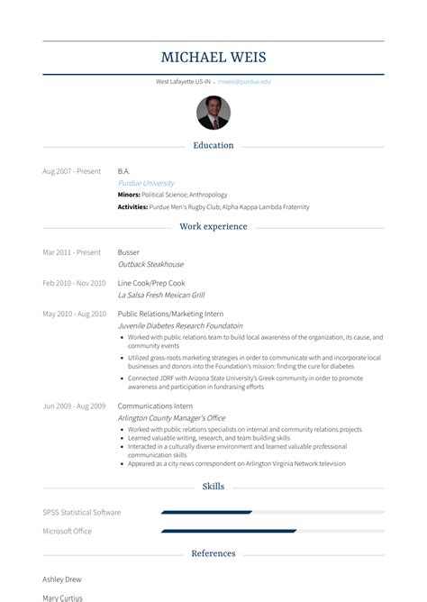 Busser Skills Resume by Busser Resume Sles Templates Visualcv