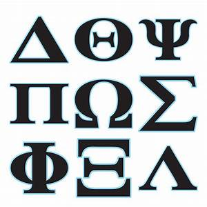 Greek alphabet letters