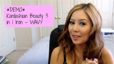 S Wave Hair Demo Kardashian Flat Iron 3 In1