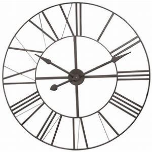 Horloge 80 Cm : brady metal clock d 80 cm horloge maisons du monde ~ Teatrodelosmanantiales.com Idées de Décoration