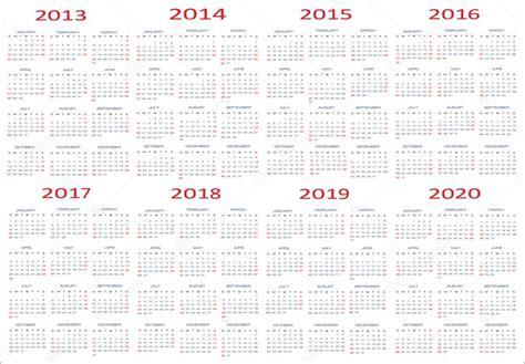novo ano calendarios