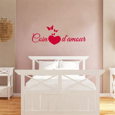 stickers muraux citations chambre sticker citation chambre coin d 39 amour stickers citations
