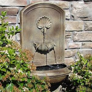 Slate grey napoli outdoor wall fountain for Outdoor patio fountains