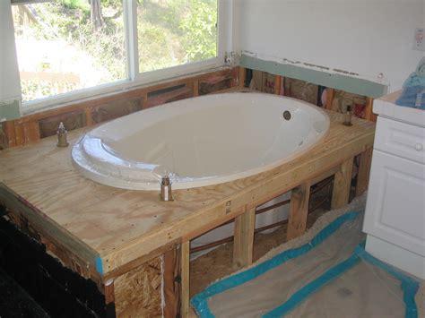 installing a bathtub bathtub installation images