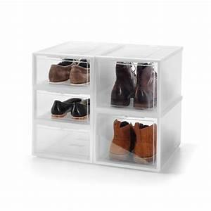 Boite A Chaussure Transparente : un dressing chaussures il est fait de boites qui s ~ Teatrodelosmanantiales.com Idées de Décoration