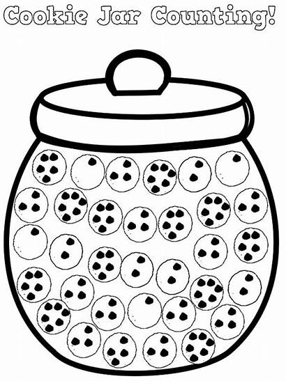 Jar Cookie Coloring Pages Counting Printable Sheet
