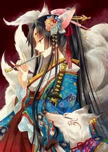 kanzashi hair pin kitsune anime kitsune spirit animal