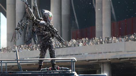 artwork digital art soldier cyborg wings wallpapers hd