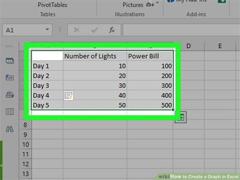 how to create a graph in excel with sle graphs