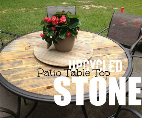 upcycle  broken patio table patio table redo