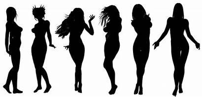 Female Reproductive Silhouettes Woman Cuerpo Silhouette Silueta