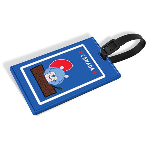 Luggage Tag beaver novelty luggage tag with security id maple leaf
