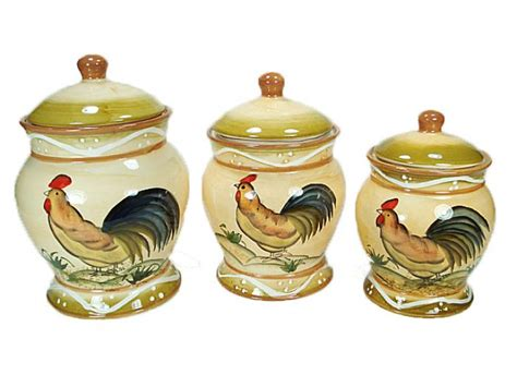 D'lusso Designs  Canister Set, Rooster Canisters