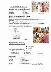 Einkaufen Per Rechnung : klassenarbeit einkaufen arbeitsblatt kostenlose daf arbeitsbl tter ~ Themetempest.com Abrechnung