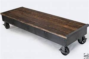 i beam coffee table glass top real industrial edge With rolling glass coffee table
