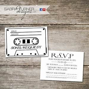 cassette tape rsvp card song request card wedding rsvp With wedding invitations with rsvp and song request