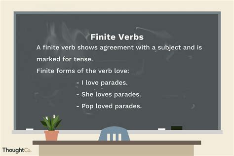 finite verb definition  examples