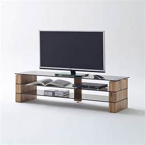 Tv Board Glas : tv rack kari tv board lowboard in eiche massiv glas grau ~ Whattoseeinmadrid.com Haus und Dekorationen