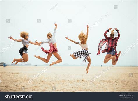 Four Best Friends Having Fun On Stock Photo 559056730
