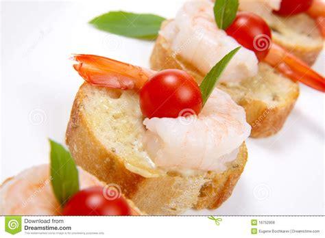 canape spread shrimp canape stock photo image of organic closeup